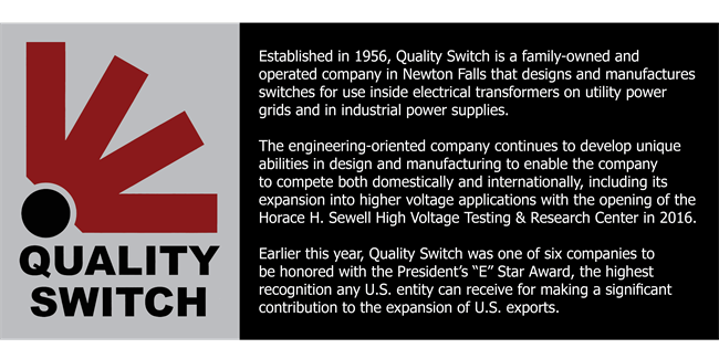 excellence in manufacturing award writeup