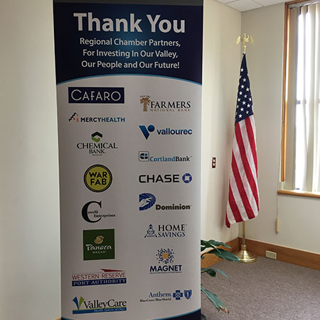 Banner with list of investors